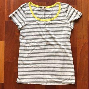 GAP Gray Striped Ringer Tee, XS